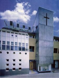 大阪淡路教会外観(この建物の一階北側が教会です)