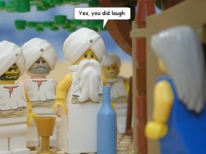 ヤハウェ一行とアブラハムとサラ(The Brick Testament から拝借)