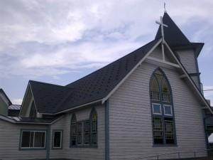 会議の会場となった若松栄町教会