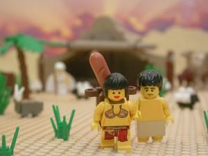 アブラハム、ハガルとイシュマエルを追い出す(The Brick Testament より)