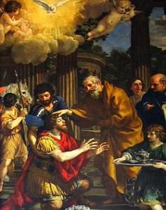 ピエトロ・ダ・コルトーナ『パウロの回心』1631年(Wikipediaより)