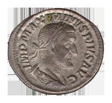 マクシミヌス帝時代のデナリウス貨(Wikipediaより)